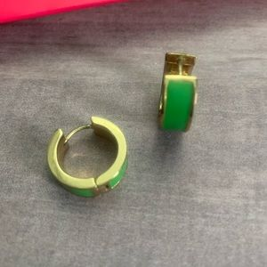 Kate Spade | Green Enamel & Gold Earrings